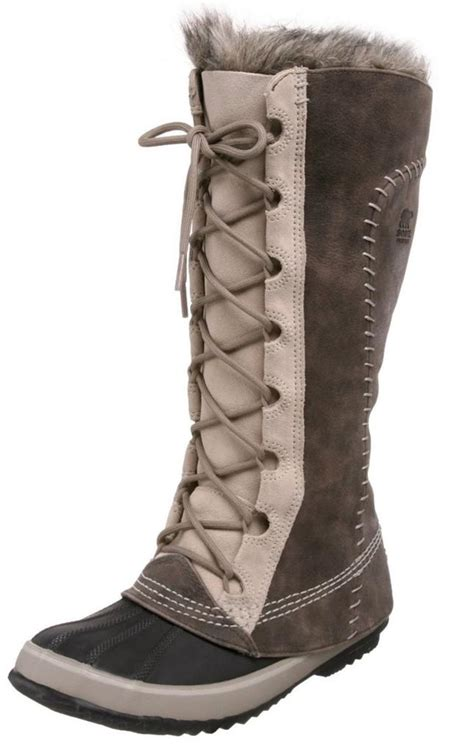sorel cate the great tusk fur lined lace up knee high duck