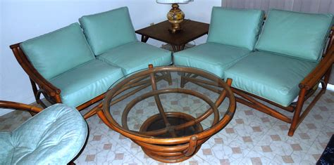 Vintage Living Room Sets 1960s Vintage Bamboo Vinyl Retro Living Room Furniture Set For Sale Vintage Living Room Sets