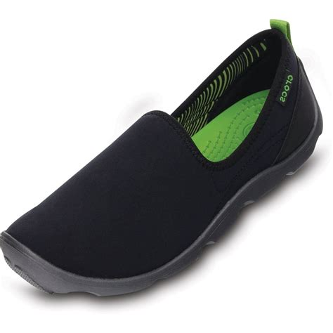 Duet Skimmer crocs womens duet busy day skimmer black graphite comfort footbed stretchy