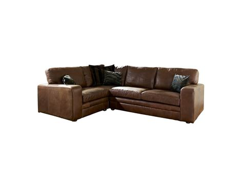 Leather Corner by Brown Leather Corner Sofa The Sofa Company
