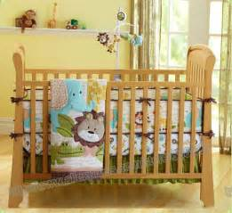 7 pieces lovely baby bedding crib set forest printed