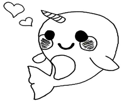 cute coloring pages of narwhals easy farm animal dot to printable sketch coloring page