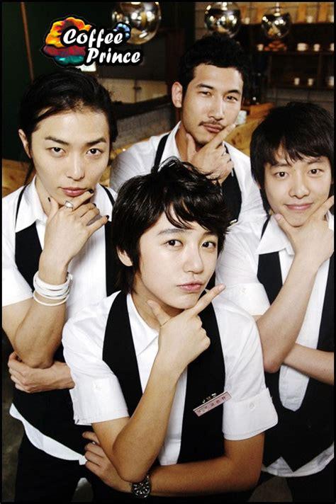 film drama korea a coffee to go coffee prince poster showing the four baristas k drama today
