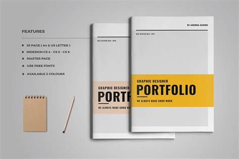 portfolio template graphic design portfolio brochure templates creative