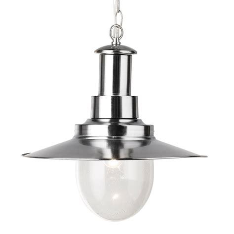 Large Light Bulb Pendant Fisherman Satin Silver Large Pendant Ceiling Light