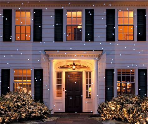 led snow flurry projection light dudeiwantthat com