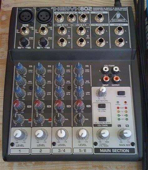 Mixer Behringer Xenyx 802 behringer xenyx 802 image 49621 audiofanzine