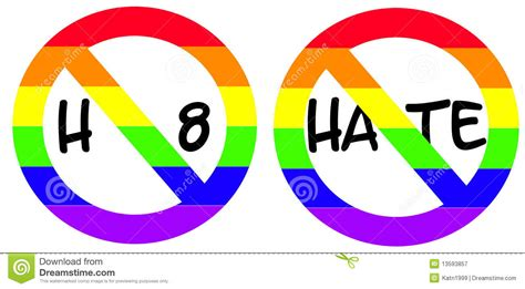 No Hate Signs stock illustration. Image of pride, black