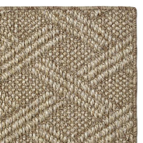 6x9 sisal rug lattice sisal rug timber williams sonoma