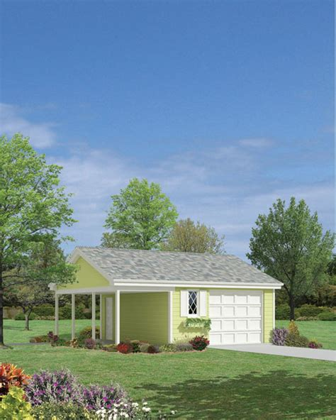 covered garage earth living 1 car garage with covered porch e plan