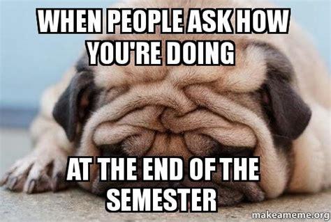 End Of Semester Memes - meme