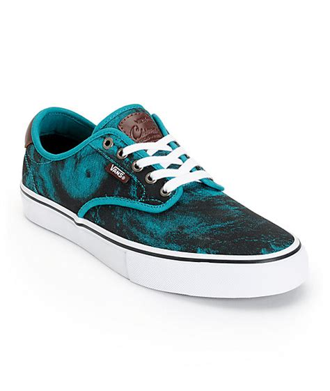 zumiez shoes for vans chima pro cyclone teal skate shoes mens at zumiez pdp