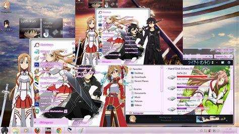 theme for windows 8 1 sword art online sword art online theme windows 7 by lutfikun29 on deviantart