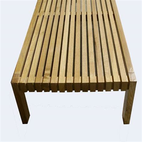 slatted wood bench 5ft george nelson style vintage slatted wood bench ebay