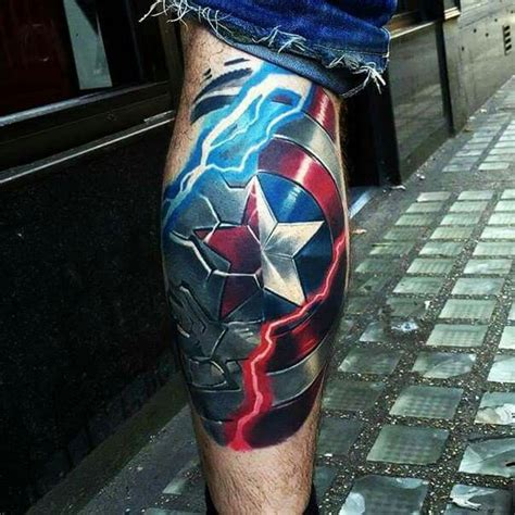 captain tattoo captain america shield tattoos