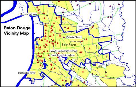 louisiana points of interest map baton consolidated plan executive summary