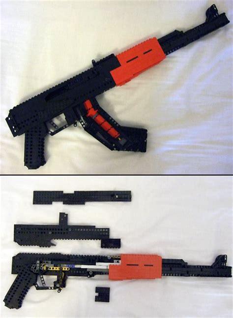 Lego Compatible Heavy Barrey Part Rifle functional lego ak 47 techeblog