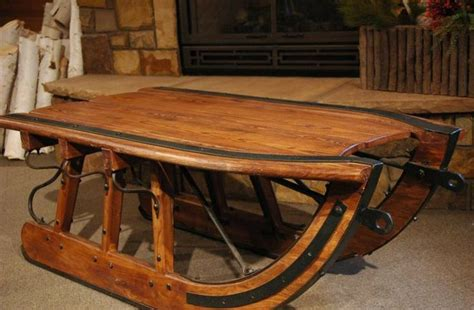 Sled Coffee Table Logging Sled Coffee Table Mountain Original