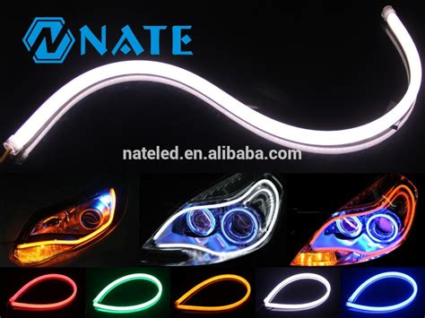 Auto Led Light Drl 16cm 30cm 45cm 60cm 85cm Double Color Led Automotive Light Strips