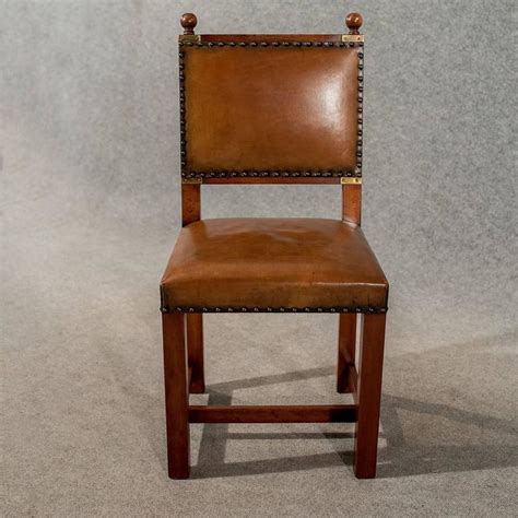 Comfy Dining Chairs by Antique Oak And Leather Set Four Dining Kitchen Chairs Comfy And Quality For Sale At 1stdibs