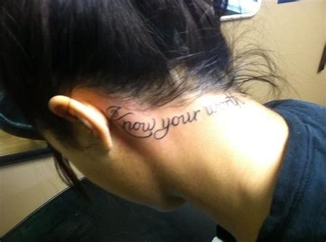 know your worth tattoo your worth tattoos and piercings