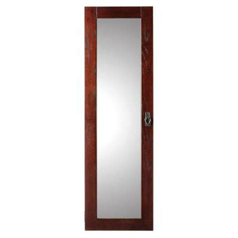 mirror wall jewelry armoire home decorators collection artisan wall mount jewelry