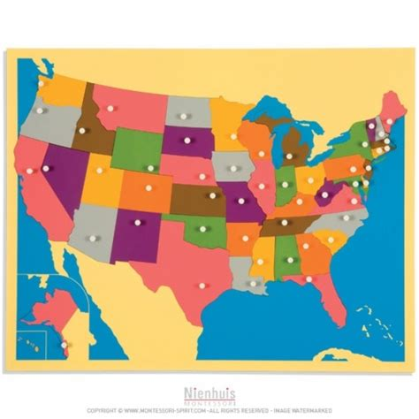 united states map crossword puzzle puzzle map the united states montessori spirit
