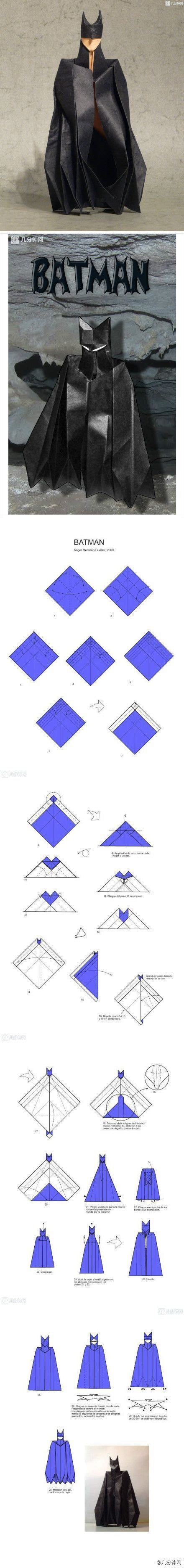 How To Make A Paper Batman - how to make an origami paper batman origami paper