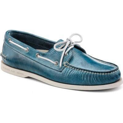 sperry white washed boat shoe blue leather boat shoes select your shoes