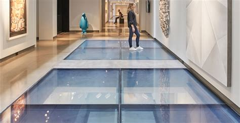 Statement Floor L by Resistive Glass Floors Make A Dramatic Statement In