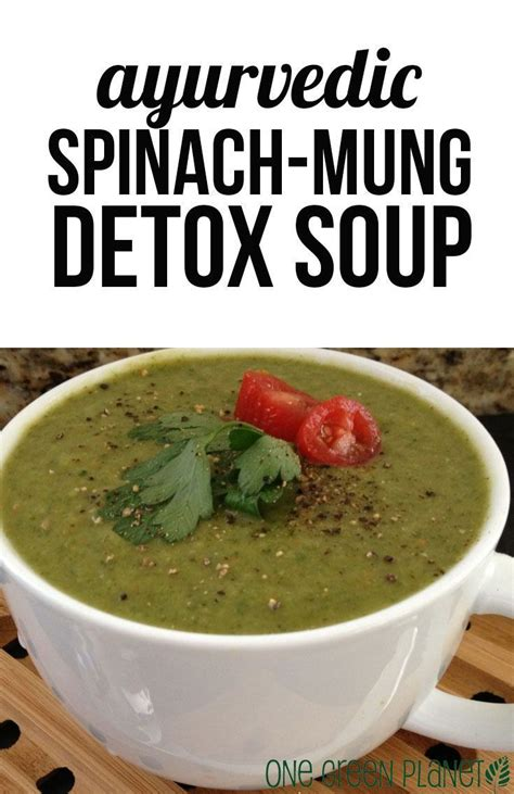 Recipes For Healthy Soups Detox by Ayurvedic Spinach Mung Detox Soup Vegan Soups Vegans