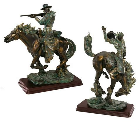 home decor statues sculptures 13 5 quot texas cowboys wild west rebels sculptures statues