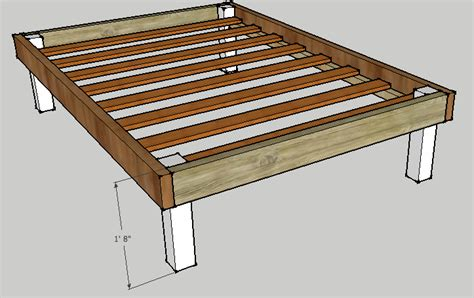 simple queen bed frame  luckysawdust  lumberjocks