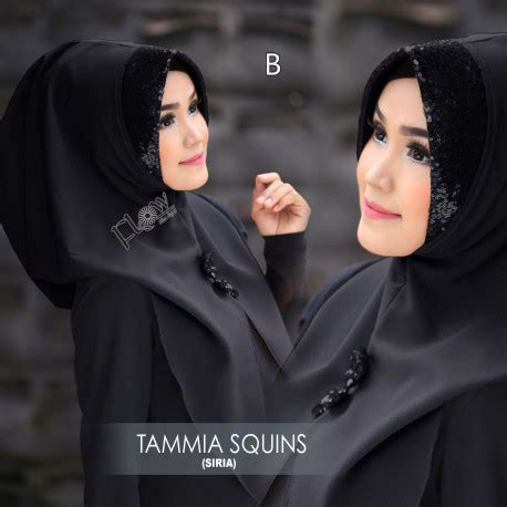 Siria Tammia Squins 1 jilbab modis jilbab tamia squins by flow pusat busana gaun pesta muslim modern