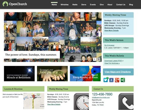 drupal themes church the 50 best drupal themes creative bloq