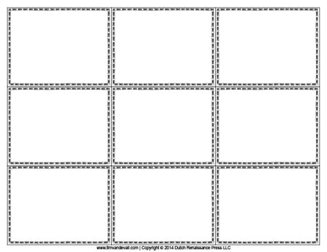 free printable flash cards template intended for blank printable