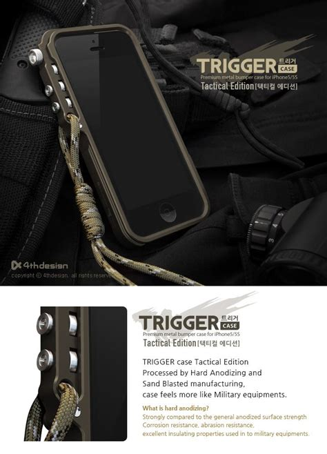 Diskon Spesial Natal Anti Casing Iphone 5 5s Se 6 6s trigger aluminum tactical edition for apple iphone 5