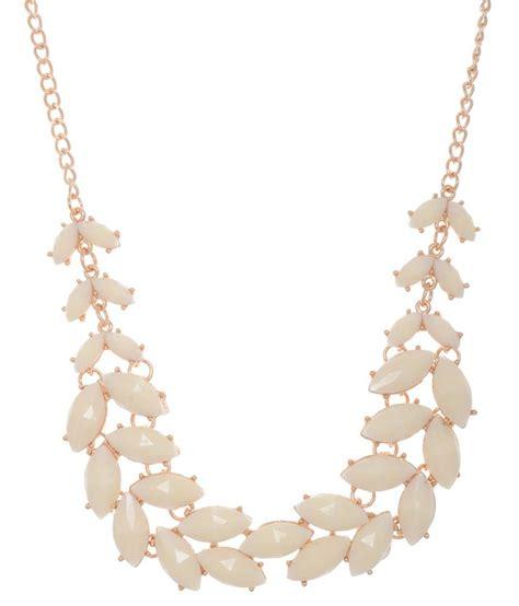 Pearl White Color Necklace zaisch white colored pearl studded necklace set buy zaisch white colored pearl studded necklace