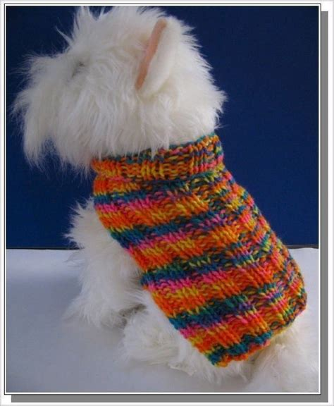 knit pattern puppy sweater easy knitting patterns for beginners basic ribbed dog