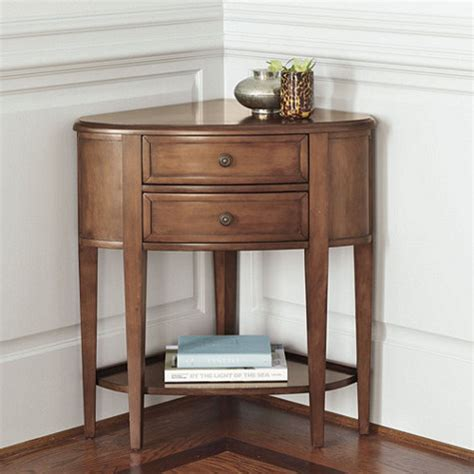 Corner Console Table Newport Corner Console Traditional Nightstands And Bedside Tables By Ballard Designs