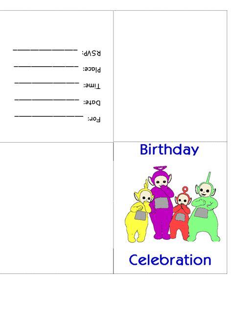 printable invitations dltk dltks teletubby birthday invitations printable cards