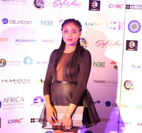 chelsea eze chelsea eze bares assets on afriff red carpet nigerian