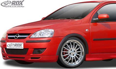 opel corsa 2002 tuning rdx frontspoiler opel corsa c facelift ab 2002