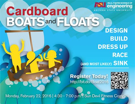 cardboard boat paddles kick off engineers week with cardboard boats and floats