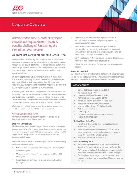 Adp Mba by Adp Corporate Overview