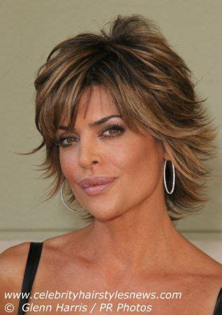 short layered flipped up haircuts medium length layered haircuts lisa rinna with a short