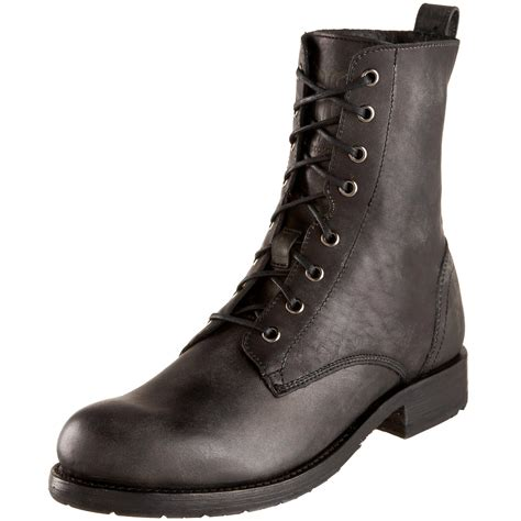 mens lace up boot frye mens rogan lace up boot in black for lyst