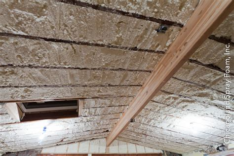 Best Insulation For Cathedral Ceiling by Cathedral Ceiling Spray Foam Insulation In Chicago Land