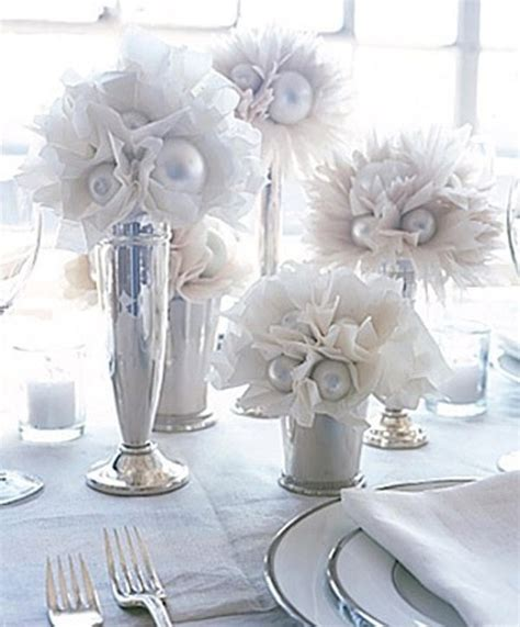 winter in decorations picture of winter wedding table decor ideas