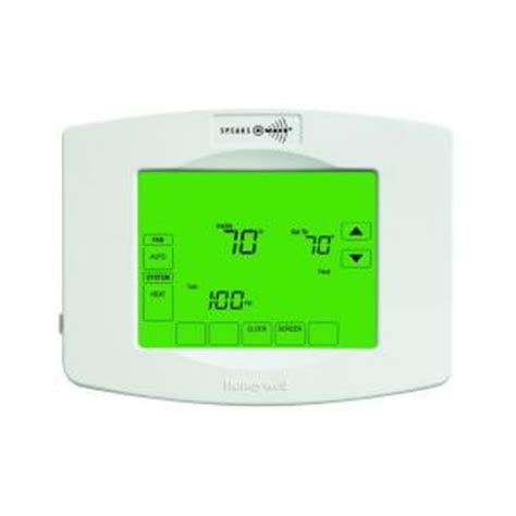 honeywell z wave 7 day touchscreen thermostat with
